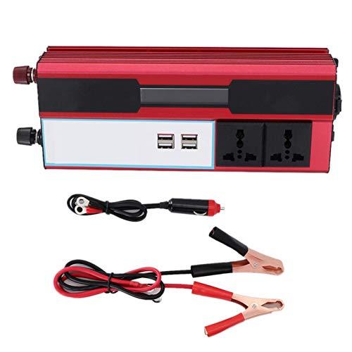 EBTOOLS Inversores de energía, pico 4000W Inversor de energía solar Wave Pantalla digital Teléfono 4 Cargador USB 220 8209; 240V Puertos USB Adaptador automático Fuente de alimentación