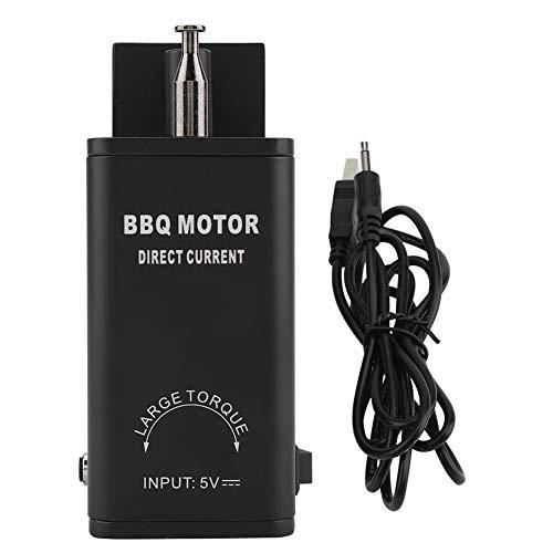 TOPINCN BBQ Motor Aluminium di Piccola Taglia a Basso consumo energetico Girarrosto Grill Grill Utensili per Barbecue con Cavo USB DC 5V