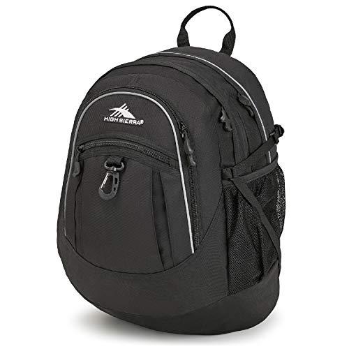 High Sierra Fatboy Backpack, Black, 19.5 x 13 x 7-Inch