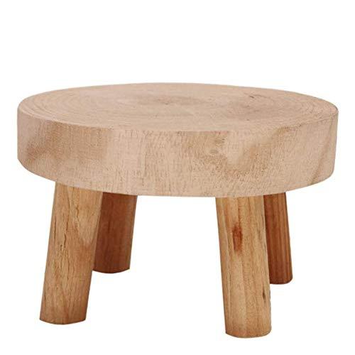 DF - Soporte de madera para plantas de interior (2 unidades,