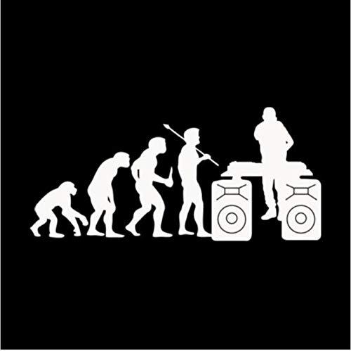 Empty 4 Piezas Pegatinas de Coche 15,2 cm * 7,1 cm Divertido Personalidad evolución DJ música Vinilo Coche Pegatina calcomanía