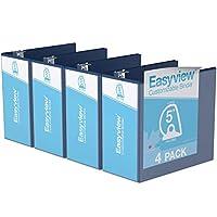 Easyview プレミアム アングルDリング カスタマイズ可能 ビューバインダー 6個パック (5インチ ロイヤルブルー)