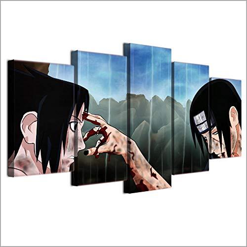 YJYG Lienzo de 5 Piezas, Arte de Pared, póster de Anime, imágenesImpresas,Pinturas Modernas para decoración del hogar, Ilustraciones de Regalo para Sala de Estar Sin Marco