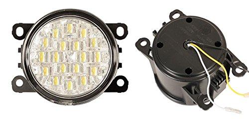 Euralight LED Tagfahrlicht mit Dimmfunktion rund 90mm Durchmesser mit E-Prüfzeichen eintragungsfrei~