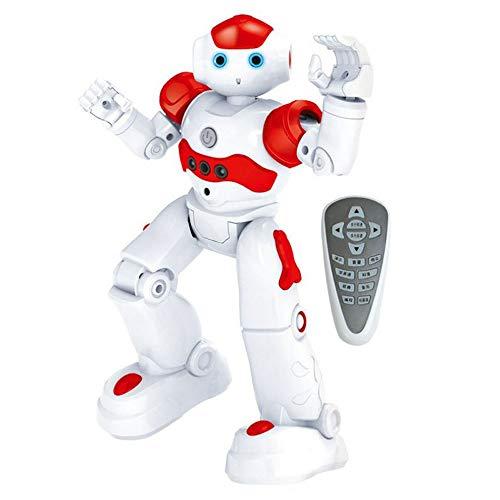 DBXMFZW RC Robot Intelligent Educación temprana Control Remoto Robot Roble Puzzle Boy Children's Toy Gesto Inducción Inducción USB Regalo de cumpleaños para niños y niñas (Color : Rojo)