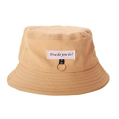 Bucket Hat Chapeau Mode Femmes Mignon Été Soleil Chapeau Cercle Seau Casquette Décontracté Anneau Décor Hip Hop Fille Garçon Étudiant Parasol Casquette De Pêche Jaune