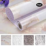 Art3d 17.7'x78.7' Marble Contact Paper Countertops - Self Adhesive Shelf Drawer Liner - Decorative Contact Wallpaper - Waterproof, Peel and Stick, Easily Removable (17.71' x 78.74', Matt)