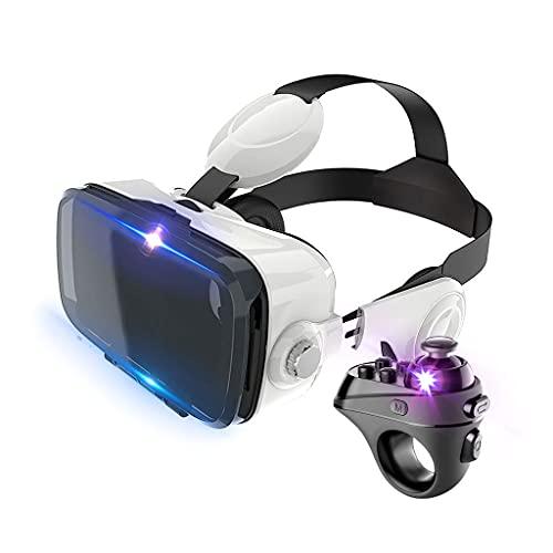 Gffeijc VR Gafas Movil, 3D Auriculares de Realidad Virtual Headset con Controlador VR Glasses para 3D Películas Juego para iPhone 12 11 Pro MAX Mini X R S 8 7 para Android Samsung 4.7-6.5'