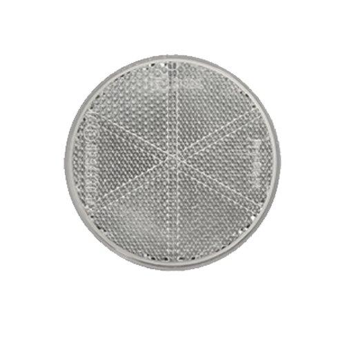Reflektor / Katzenauge / Rückstrahler weiß 80 mm selbstklebend