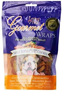 Loving Pets Gourmet Sweet Potato & Chicken Wraps Dog Treats with Glucosamine and Chondroitin