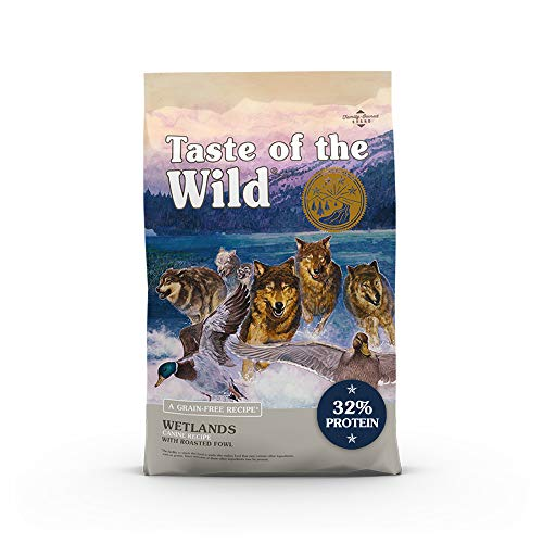 Taste of The Wild Grain Free Premium High Protein Dry Dog Food Wetlands - Roasted Duck
