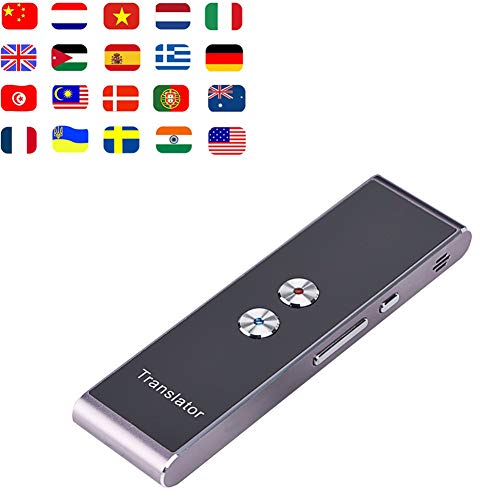 Mrrong Voice Translator 32 Language Translation Voice Portable Smart Wireless Language Translation Voice Learning Travel Conference,Silver