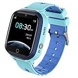 Kinder Smartwatch mit 7 Spiele Musik Player für Jungen Mädchen with HD Touchscreen SOS Handyspiel Smartwatch für Kinder Kamera Wecker Geburtstagsgeschenk by INIUPO (Blau)