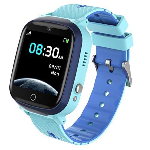 INIUPO Reloj Inteligente para niños niñas Reloj del teléfono Ver con cámara de Juego de música para Regalos de cumpleaños para niños (Azul)