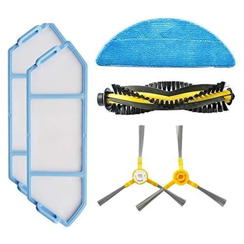LuckyMAO Accessori per Parti di aspirapolvere Kit di Sostituzione for Una vestibilità Fot NEATSVOR X500 / X600 Robot Aspirapolvere Accessori con Filtro Mop Cloth Scorrere Brush (Color : Multi)