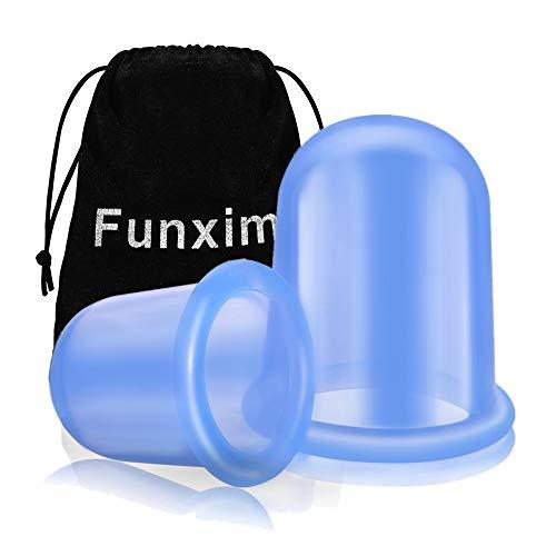 Funxim Ventouse Anti Cellulite Minceur, Silicone Médicale, Hypoallergénique, Simple d'utilisation - Limiter 15 minutes par jour, Soin beauté en silico