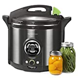 Presto 02144 12Qt Digital Canner, Black Stainless