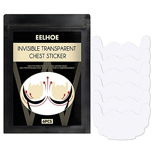 YUECI Unsichtbarer transparenter Brustaufkleber Unsichtbares Bruststraffungsband-Brusthebe-Pads Klebe-BH - unsichtbar - selbstklebend - Push-Up Cup- Trägerlos