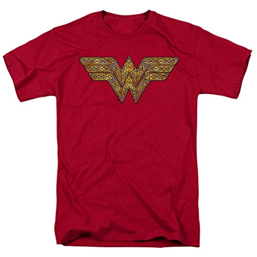 Popfunk Wonder Woman Celtic Logo T Shirt & Stickers (Small) Red