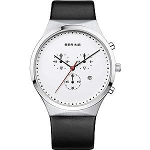 Bering Reloj Cronógrafo para Hombre de Cuarzo con Correa en Cuero 14740-404