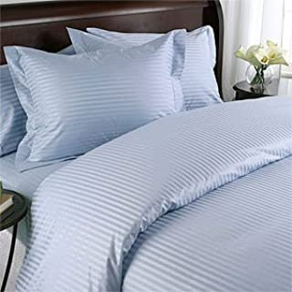 Blue Queen Striped Luxury 8-Peices Bed-in-a-Bag Set 1000 Thread Count -100 Percent Egyptian Cotton