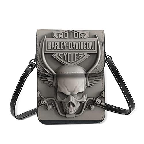 Crossbody Handytasche Damen Harley Davidson Leder Handytasche Kleine Handy Umhängetasche Geldbörse Geldbörse Handy Geldbörse Tasche mit Schultergurt