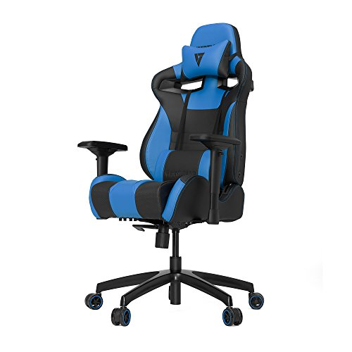 VERTAGEAR Gaming Racing Seat Office Ergonomic Computer High Back Executive Chairs, S-Line Medium SL4000 BIFMA Cert, Black/Blue