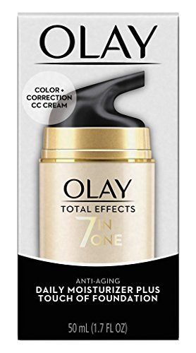 Olay Total Effects 7 in One Anti-Aging Moisturizer + Touch of Foundation Light to Medium 1.7 oz (Pack of 2)