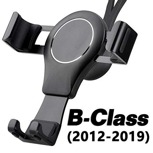 AYADA Handyhalterung für Mercedes B Klasse W246, B Klasse Handyhalterung Gravity Sperre Hände Frei Aluminium Stabil Smartphone Handy Halter B Klasse Zubehör W246 Zubehör Accessoires (Schwarz)