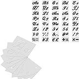 40 Piezas Plantilla del Alfabeto Plantillas de Letras Plantillas de Números de Letras para Pintar Sobre Madera Diseños Arte Plantillas Para Pintar para Manualidades álbumes de Recortes