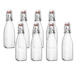 Bormioli Rocco Glass 8.5 Ounce Swing Top Bottle, Set of 8 (B072LCRMCR) | Amazon price tracker / tracking, Amazon price history charts, Amazon price watches, Amazon price drop alerts