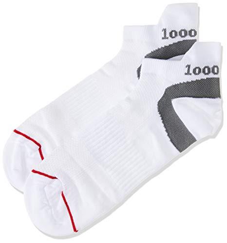 1000 Mile Herren Lauf Socken 1548 Trainereinlage Socks, Weiß, L, 1548WL