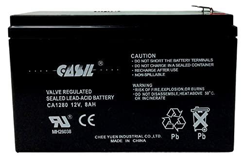 Goldtop GT12080-HG Battery Verizon Fios 12v 8ah AGM Battery F2 by Casil CA1280