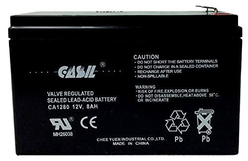 12v 8ah Battery CA1280 F2 Sealed Lead Acid (SLA) Casil Battery