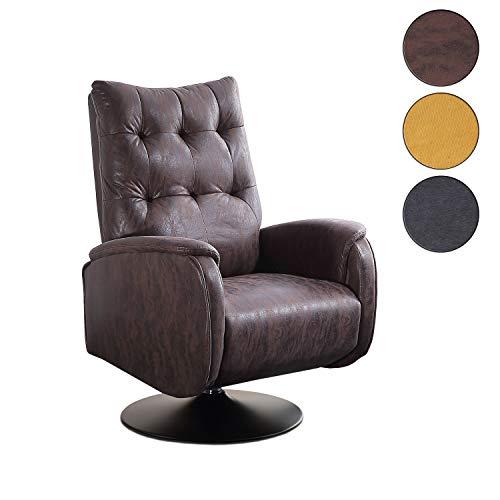 Adec - Swing, Sillón Relax Giratorio, tapizado en Tejido Color Chocolate Vintage, butaca Descanso, Medidas: 77 cm (Ancho) x 73 cm (Fondo) 103 cm (Alto)