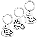 Gifts for Teacher 3PCS Heart Appreciation Keychain for Women Men from Student