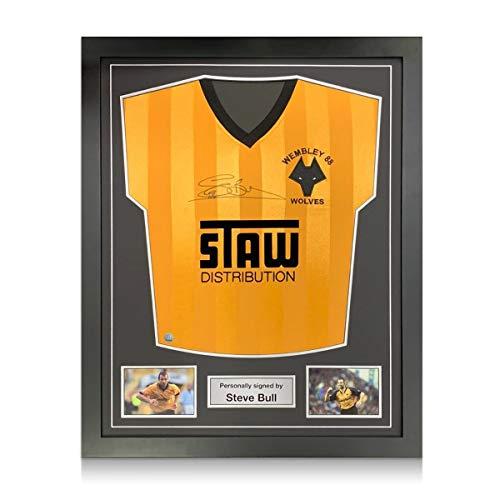 exclusivememorabilia.com Camiseta Wolves 1988 firmada por Steve Bull. Marco estándar