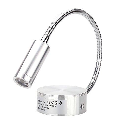 Lixada LED Leselampe 1W Wandbeleuchten Bett Lampen Soft Tube Einstellbar Hintergrund Spiegel Licht flexibles Leselicht ohne Schalter