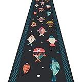 ZRUYI Tapis Couloir Tapis De Passage D'allée Anime 3D Petit Poisson Modèle Résiste À L'humidité Imperméable Tapis Long, Personnaliser Taille (Color : A, Size : 0.6x2m)