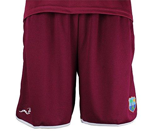 West Indies Cricket Training Shorts Boys LG Maroon