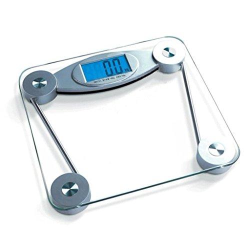 Weegschaal lichaamsweegschaal gewichtsschaal gezondheidsschaal met een groot scherm nachtzicht achtergrondverlichting opnemen