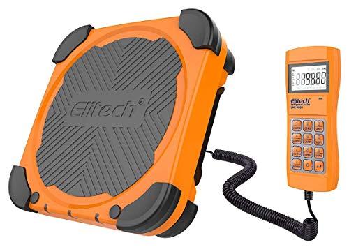 Elitech LMC-300A Escala electrónica de refrigerante, Escala electrónica de suministro de combustible para HVAC y Auto AC con estuche portátil y sobrepeso 150 kgGarantía de 12 meses