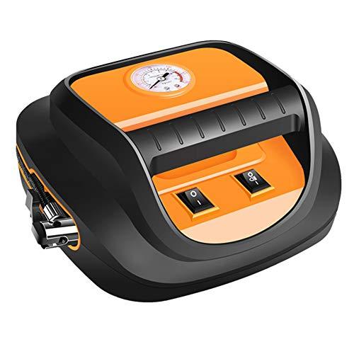 WWMH Compresor Aire Coche,Portatil Digital Inflador Ruedas Coche con Led Display y TráQuea de Largo,Compresor Aire para AutomóViles,Bicicletas, Motocicletas y Pelotas,1