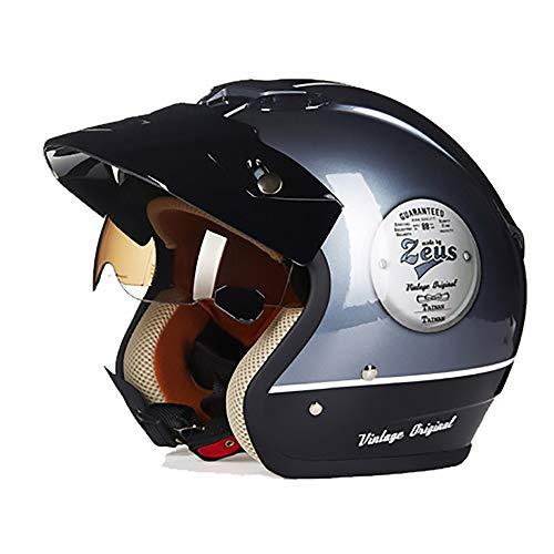 Bradoner Casco plegable para bicicleta de montaña, color gris y negro ABS, para adultos, para montar en coche, eléctrico, para montar en bicicleta (tamaño: XXL)