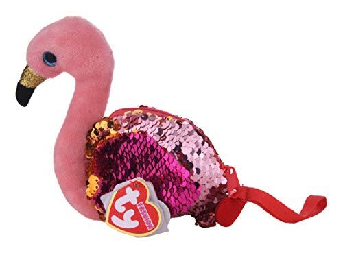 Ty Gilda Le Flamant Rose - Bolsa de peluche, diseño de flamenco multicolor talla única