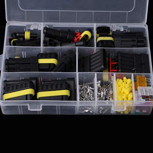 BIlinli 240 stücke Superseal AMP/Tyco wasserdichte 12 V Elektrische Steckverbinder Kit 1/2/3/4/5/6 Way Pin