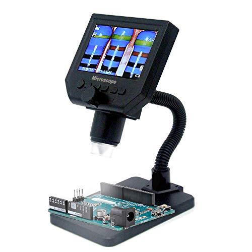 KKmoon Elettronico Microscopio Microscopio Digitale LCD Portatile G600 con 8 LED Ad Alta Luminosit¨¤ e Batteria al Litio Incorporata