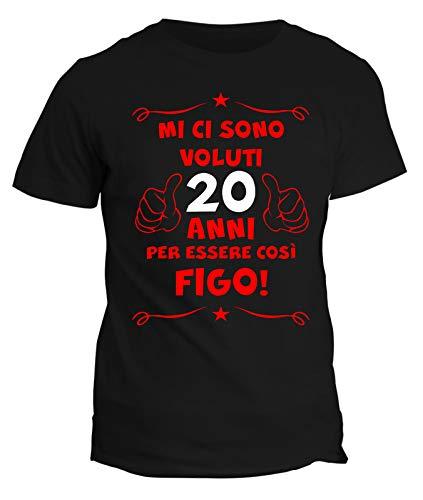 fashwork Tshirt 20° Compleanno Mi Ci Sono Voluti 20 Anni per Essere così Figo - Maglietta Compleanno Idea Regalo