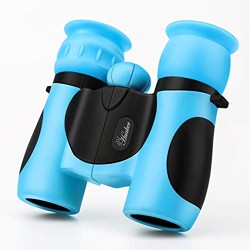 Kids Binoculars 8x21 High-Resolution Real Optics Compact Binoculars Kids Toy for Boys and Girls,Small Telescope for Kids Bird Watching, Travel, Safari, Adventure, Outdoor Fun (Blue)