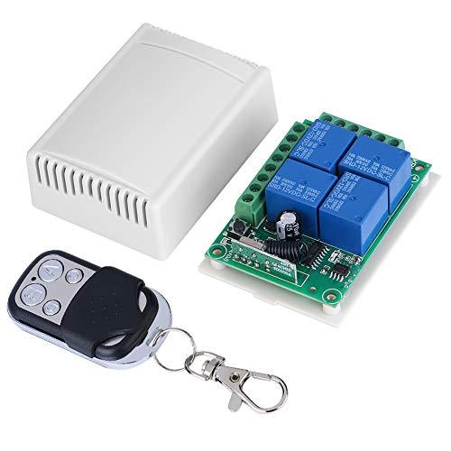 Cilnvenie Interruptor remoto-DC12V 433MHZ Tablero Receptor de Interruptor de Control de Puertas de Garaje inalámbrico con Control Remoto